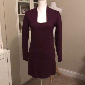 Kate Spade Saturday purple square neckline dress